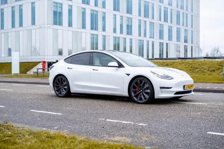 Tesla Model 3 elektrische bedrijfswagen